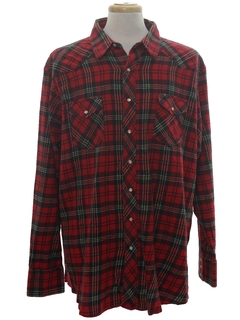 1980's Mens Flannel Western Shirt