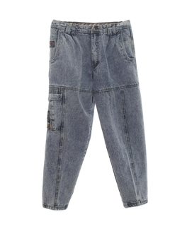 1980's Mens Totally 80s Stone Washed Jeans Pants