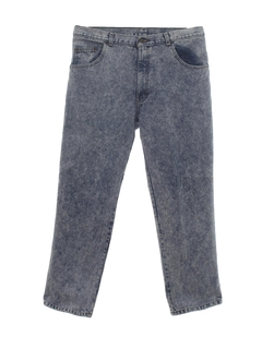 1980's Mens Totally 80s Stonewashed Jeans Pants