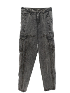 1980's Mens Totally 80s Acid Wash Jeans Pants
