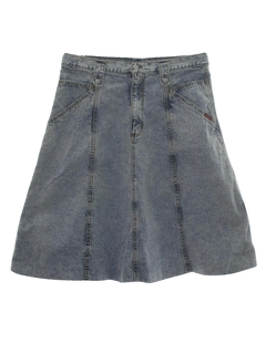 1990's Womens Wicked 90s Stone Washed Denim Skirt