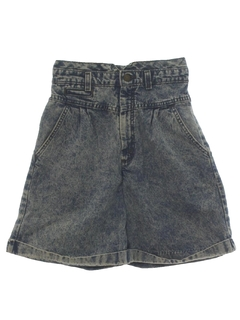 1980's Womens Totally 80s Stone Washed Jeans Shorts