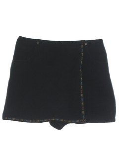 1980's Womens Totally 80s Denim Skort Shorts