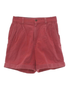1980's Womens Op Style Corduroy Shorts