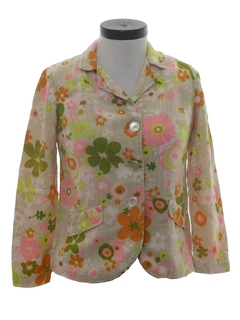 1960's Womens Hippie Shirt Jacket