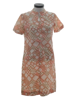 1960's Womens Polyester Dress