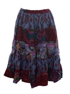 1980's Womens Southwestern Style Skirt