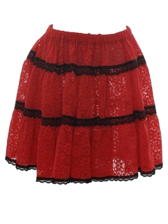 1970's Womens Square Dance Skirt