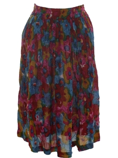 1980's Womens Hippie Broomstick Style Skirt