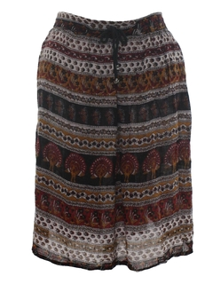 1990's Womens Hippie Broomstick Style Skirt