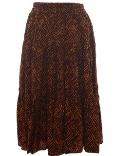 1980's Womens Hippie Style Skirt