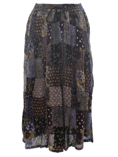 1990's Womens Broomstick Style Hippie Skirt