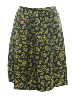 1980's Womens Designer Totally 80s Skirt