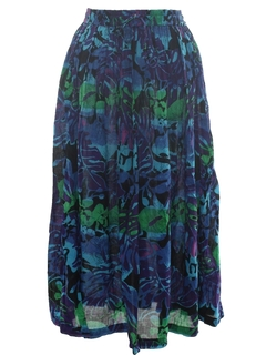 1980's Womens Broomstick Style Hippie Skirt