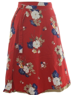 1970's Womens Reversible Wrap Skirt