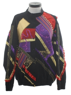 1980's Womens Totally 80s Sweatshirt Jacket