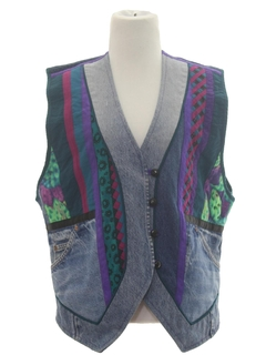1990's Womens Denim Vest