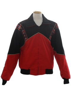 1980's Mens Totally 80s Western Style Jacket