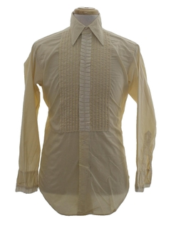 1960's Mens Box Pleated Tuxedo Shirt
