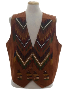 1980's Unisex Guatemalan Style Hippie Vest
