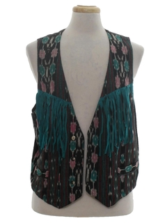 1980's Womens Fringed Hippie Vest