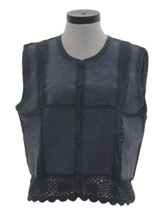 1980's Womens Totally 80s Suede Vest
