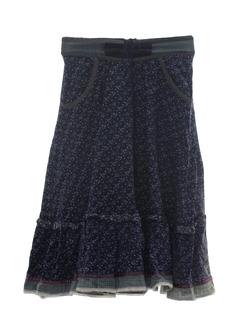 1980's Womens Prairie Style Hippie Skirt
