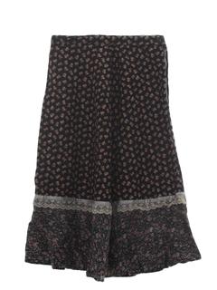 1970's Womens Prairie Style Hippie Skirt