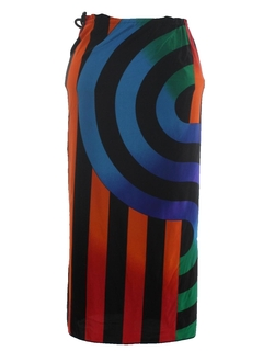 1980's Womens Totally 80s Wrap Skirt