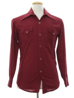 1970's Mens Mod Western Style Shirt