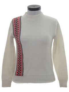 1960's Womens Mod Ski Sweater