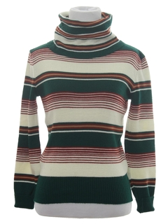 1970's Womens or Girls Mod Knit Turtleneck Shirt