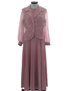 1970's Womens Mother of the Bride Dress