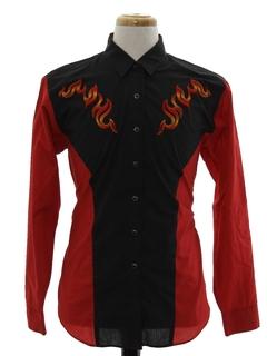 1990's Mens Mod Western Shirt