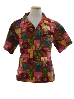 1980's Mens Hawaiian Inspired Hippie Shirt