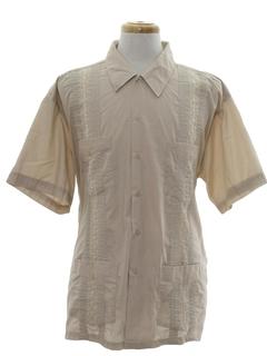 1990's Mens Guayabera Styled Shirt