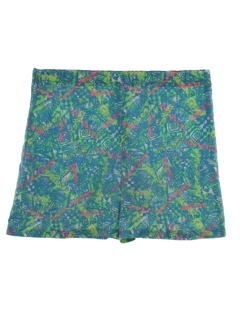 1980's Unisex Totally 80s Print Baggy Shorts