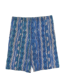 1980's Womens Totally 80 Print Baggy Shorts