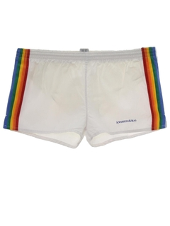 1980's Mens Rainbow Swim Shorts