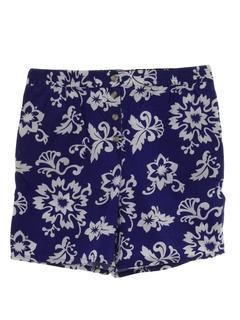 1980's Womens Hawaiian Style Shorts