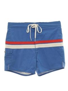 1960's Mens Mod Swim Shorts