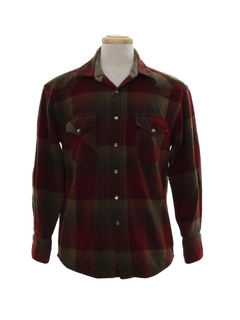 1980's Mens Western Flannel Shirt