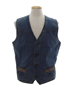 1970's Mens Hippie Denim Vest