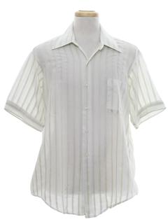 1960's Mens Print Mod Shirt