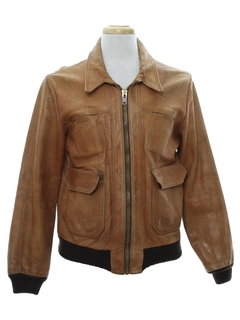 1970's Mens Designer Leather Jacket