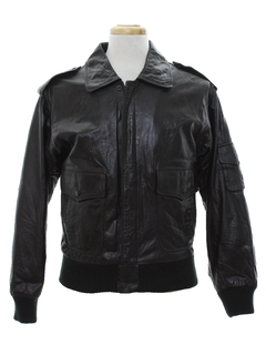 1980's Mens Totally 80s Leather Jacket