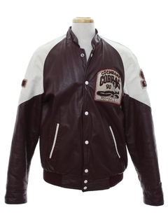 1990's Mens Leather Letterman Jacket