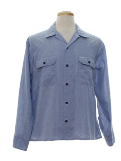 1960's Mens Chambrey Work Shirt