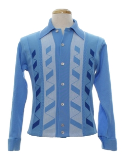 1960's Mens Mod Knit Shirt-Jacket