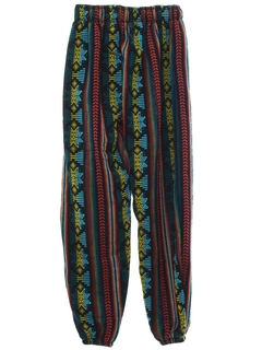 1980's Mens Baggy Guatemalan Pineapple Express style Hippie Pants